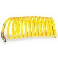 SPEEDAIRE Coiled Air Hose 1/2 In I.D X 50 FT, NYLON