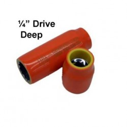"CEMENTEX Double Insulated  1/4"" Deep Square Drive Sockets."