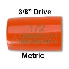 "CEMENTEX Double Insulated METRIC 3/8"" Square Drive Sockets."